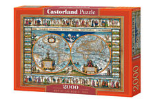 """Castorland Puzzle 2000 Pieces MAP OF THE WOR 92x68cm 36""""x27"""" Sealed box C-200733"""
