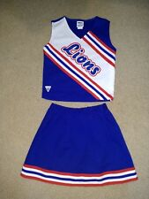 Real Authentic Varsity Adult Cheerleader Uniform Cheer Outfit Lions Blue White