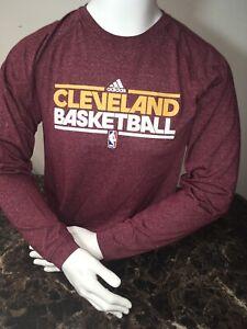 Adidas Climalite Cleveland Cavaliers NBA Basketball Long Sleeve T Shirt LARGE