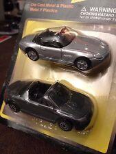 BMW Z8 ROADSTER & AUDI TT ROADSTER SET 1:64 METAL DIECAST RARE