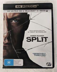 SPLIT 4K ULTRA HD + BLU-RAY oz seller James McAvoy 4K UHD HDR DVD