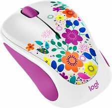 Logitech - Design Collection Wireless Optical Mouse with Nano Receiver - Work...