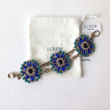 J. Crew Factory Jeweled Brooch Bracelet NWT AUTHENTIC With Pouch