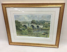 Signed Limited Edition Print by Artist E R Sturgeon Stirling Old Bridge 279/425