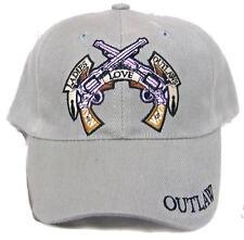 BUY 1 GET 1 FREE LADIES LOVE OUTLAWS W BADGE BIKER BASEBALL HAT cap #HAT15 NEW