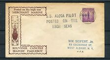 USA Schiffspostbeleg 3 Cents EF S.S. Alcoa Pilot - b2934