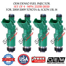 OEM DENSO FUEL INJECTORS for 2000-2009 TOYOTA-SCION 1.5L #23250-21020 - Set of 4
