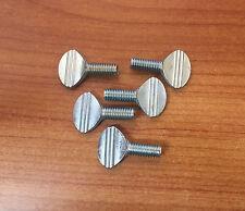 """Steel Spade-Head Thumb Screws -5/16"""" -18 & 3/4 Length -Pack of 5"""