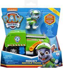 Paw Patrol Jeu enfant Camion recyclage et Figurine Rocky  La Pat' Patrouille