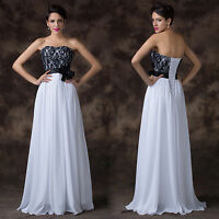 Hot Sale~Women Long Evening Formal Party Ball Gown Prom Bridesmaid Wedding Dress