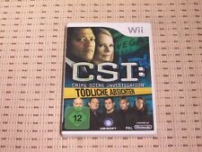 CSI Crime Scene Investigation Tödliche Absichten für Nintendo Wii und Wii U OVP