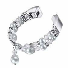 For Fitbit Alta HR and Alta Bands, bayite Pearl Natural Stone Bracelet Bead