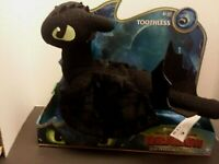 "New DreamWorks How To Train Your Dragon The Hidden World: TOOTHLESS 14"" Plush 4+"