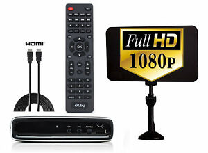 eXuby Digital Converter Box for TV, Antenna, HDMI Cable Bundle to Watch FREE TV