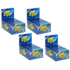 4X BOXES -  24 packs TRIP 2 CLEAR TRANSPARENT SEE THROUGH 1 1/4 ROLLING PAPERS