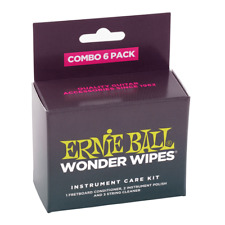 Ernie Ball Wonder Wipes - Combo 6 Pack Instrument Care Kit
