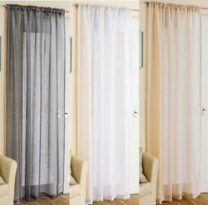 "SPARKLY GLITZ SHEER VOILE SLOT TOP CURTAIN PANEL ~ 48"" 54 72"" 90"" IN STOCK"