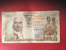 Billet 100 FRANCS MARTINIQUE / FRENCH ANTILLES - Etat TB/Fine