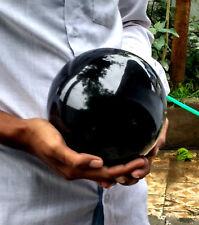 "New Large 7"" Natural Black Tourmaline Crystal Reiki Aura Healing Energy Sphere"