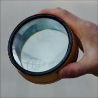 3.5X Clear Lens Glass Magnifier Desk Reading Aid Loupe Metal Frame Dia. 100mm
