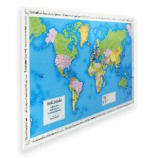 Personalised World Traveller Map (Laminated) - Gift
