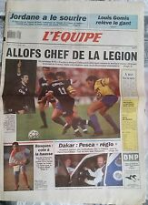 L'Equipe Journal 21/12/1989; Allofs élu meilleur joueur de l'année/ Jordan/ Gomi