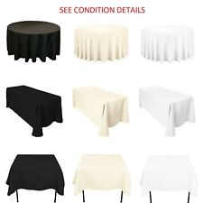 White Black Ivory Tablecloth Table Cover Wedding Party (See Condition Details)