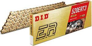 CATENA DI TRASMISSIONE DID 520 ERT3 RACING 120 MAGLIE GOLD G&G MX MOTOCROSS