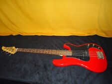 Nice Vintage MIJ Red Hondo H-820 4 String Electric Bass