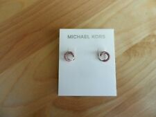 Michael Kors Pink Pave' Swirl Post  Earrings MSRP $75