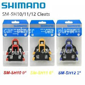 Shimano SM-SH10/11/12 Cleat Set 0/2/6° Float SPD-SL Road Bike Pedal Cleats US