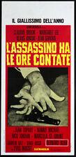 CINEMA-locandina L'ASSASSINO HA LE ORE CONTATE brook, lee, kinski, BOISSET