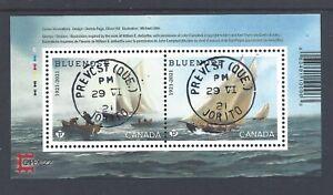 2021 Bluenose (1921-2021)  Overprinted CAPEX 22. Souvenir Sheet CDS Day cancel