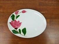 Stetson China Rio China Tulip Time Oval Serving Platter Hand Painted Vintage Ori