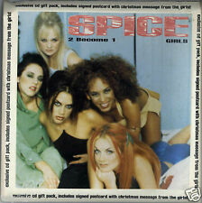 SPICE GIRLS - 2 BECOME 1 1996 UK CD2 GIFTPACK WITH POSTCARD VIRGIN - VSCDX 1607