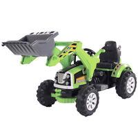 Tracteur électrique avec pelle 12V vert