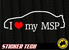 I LOVE (HEART) MY MSP PROTEGE STICKER DECAL SUIT MAZDASPEED MAZDA TURBO JDM FD