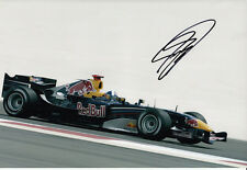 David Coulthard mano firmato RED BULL RACING FOTO 12X8 8.