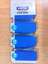 Multi Amp Fuse Wire 5 amp, 15 amp, 30 amp New