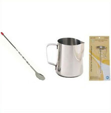 1 Espresso Milk Frothing Pitcher 33  + 1 PC Thermometer  + 1 Spoon SLME033, etc
