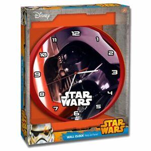 Kids Character Star Wars Disney Wall Clock SW14010 Darth Vader 24cm