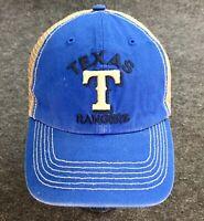 Cool Vintage 47 Brand Texas Rangers Baseball Cap Snap Mesh Back