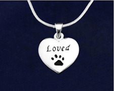 Sterling Silver-Plated Loved Heart Paw Pendant Necklace - SALE BENEFITS RESCUE