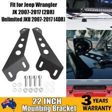 """22"""" Windshield Mounting Brackets for Jeep Wrangler JK 07-17 (2DR) JKU 07-17(4DR)"""