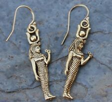 Egyptian Goddess Earrings- 18k gold plated Isis Charms on 14k gold filled hooks
