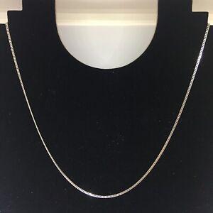 Platinum Flat Curb Chain Necklace 18 Inches Hallmarked