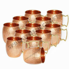 Pure Copper Hammered Moscow Mule Vodka Mug Ayurveda Health, Set of 12