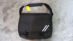 John Lewis Black Messenger Satchel School Bag 14x18in Brand New RRP £16