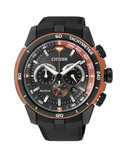 NEW Citizen Mens Stainless Steel Eco-Drive Chronograph Watch - CA4154-07E