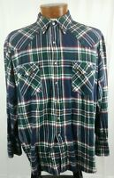 Ely Cattleman Men's Pearl Snap Front Long Sleeve Shirt Multi Color Plaid XL